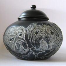 Mps Harmony Kingdom - Jardinia - Small Pug Dogs Trinket Pot - Men In Black - Nib