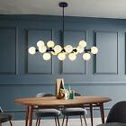 Large Chandelier Lighting Glass Pendant Light Bar Black Lamp Ceiling Lights