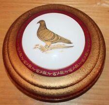 Ancienne bonbonnière  en porcelaine de limoge a décor de pigeon