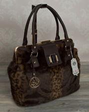 Noble Tote Bag bolsa TRANSPORTE bolso fell guepardo satchel señora bolso Coffee LYDC 660c
