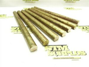 """9LB LOT OF 7PC SOLID BRASS ROUND STOCK 3/4"""" DIA X 10"""" LENGTHS"""