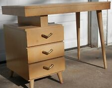 Vintage Danish Modern Mid Century Floating Top Desk 1960's