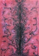 "Violet & Pink Acrylester #61 (2 pc) Razor Knife Scales 3/16"" x 2"" x 6"" - (7)"