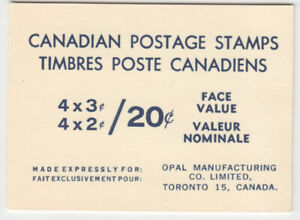 Canada - BK63a - Centennial QEII Opal Booklet, Unopened, One Pane of #455a - MNH