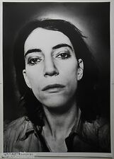 PATTI SMITH Head Shot Amsterdam 1976 33 X 23 Inch Black & White New Wave POSTER