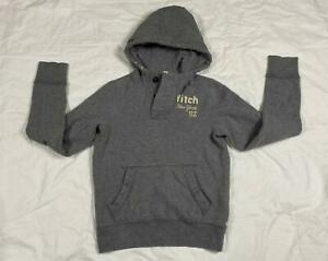 ABERCROMBIE FITCH MUSCLE DISTRESSED HENLEY HOODIE SWEATSHIRT BOYS X-LARGE