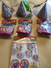 Shopkins Lot Of 7 Items Party Decorations Kit Blowouts & Hats
