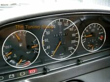 Per MERCEDES W123 76-85 anelli in alluminio quadrante Gauge Kit Chrome trim circonda NUOVO