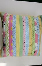 New listing Handcrafted Soft Flannel Pillow - Designs In Pastels #5687