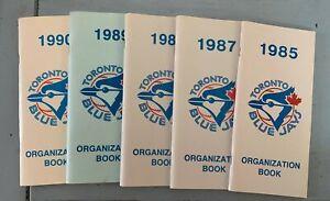 Toronto Blue Jays MLB Organization Books 1985, 1987, 1988, 1989, 1990 - 5 Diff.