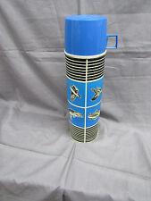 Vintage King-Seeley Thermos Blue Black Fish & Game Vacuum Bottle