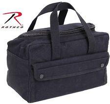 Black Mechanics Tool Bag w/ U-Shaped Zipper - Rothco Compact Canvas Utility Bags