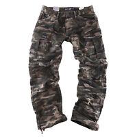Big Seven Brian Cargo camouflage tarn Hose Freizeit Herren Jeans XXL Übergrösse