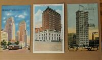 3 postcard lot - Newark, NJ - Elks' Club / Firemen's Insurance - New Jersey