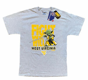 Champion West Virginia WV Mountaineers FIGHT WE WILL T-Shirt YODA Star Wars NCAA