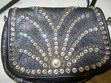 KIPPYS PURSE BELT POUCH Crystals Black Cross Body BLING Dance Cowgirl