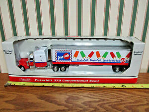 Popsicle Brand Peterbilt Semi With Van Trailer  By SpecCast 1/64th Scale