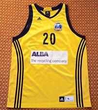 Alba Berlin, Team Performance Basketball Adidas Jersey, Mens XL, #20 Dragicevic
