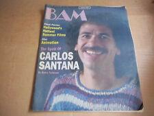 Bam magazine  Carlos Santana  1985 VG