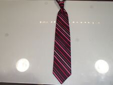 "Men's Cardi Collection ""Fuchsia"" Striped Satin Formal Long Tie"
