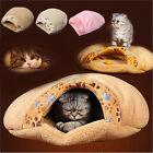 Winter Kitten Cat Warm Cave Pet Bed Puppy Sleeping House Mat Dog Pad Igloo Nest