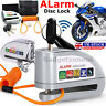 Anti-Theft Bike Motorbike Motorcycle Scooter Alarm Disc Lock Brake Pouch Silver