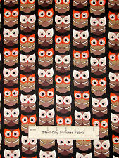 Owl Bird Hoot Owls Cotton Fabric Yard Timeless Treasures OWL- C 2444 Woodland