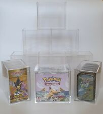 More details for 3x pokémon booster box protector acrylic display cases (fits mini tins/japanese)