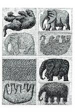 "EDWARD GOREY ""CREATIVITY"" ELEPHANTS LARGE 10""x 15"" Wall Art Poster Book Page"