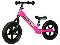 STRIDER 12 Balance Bike Classic Kids No-Pedal Learn To Ride Pre Bike PINK NEW