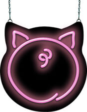 """Pig Butt Contoured Neon Sign 