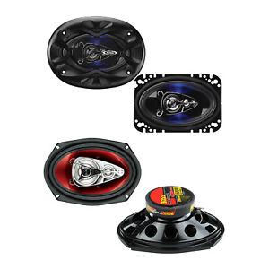 "Boss 4 x 6"" 4 Way 250W Range Speakers and 6 x 9"" 500W 4-Way Coaxial Speakers"
