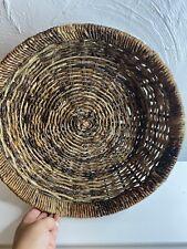 Vintage Large Wicker Rattan Boho Woven Baskets Wall Hanging Farmhouse Decor