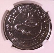 Singapore 1989 Lunar Series 10 Dollars Snake MS 65
