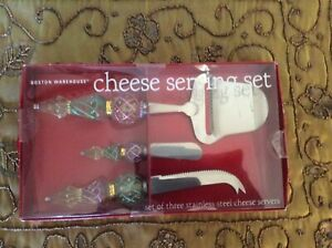 NEW Cheese Serving Set - Stainless Steel Knife, Plane, And Spreader