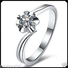 0.23Ct Diamond Solid Platinum PT950 White Gold Engagement Woman Solitare Ring