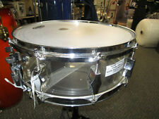"""vintage Fibes 14""""x 5"""" clear acrylic snare drum"""