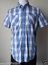 Buffalo David Bitton men size M slim fit short sleeve cotton SILLIAM shirt