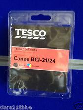 Tesco C24 Combo Canon Bci 21/24 Nero Stampante A Colori Fax Tonor