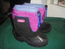 TOTES GIRLS WINTER SNOW BOOTS 11 PURPLE BLACK