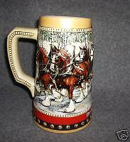 "1988 BUDWEISER HOLIDAY STEIN MUG ""COLLECTOR'S"" SERIES"