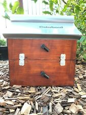 Stingless Native Bee Hive Side Entry With Roof | Stained | OATH Hive