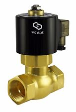 "Brass High Pressure Electric Steam Solenoid Valve 12V DC 1"" Inch Normally Closed"