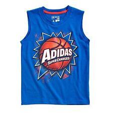 Nwt Adidas Athletic Basketball Sleeveless Muscle Tank Shirt Size Boys Size 7
