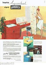 PUBLICITE ADVERTISING 056  1959  les meubles-lavabo  Aquabel Formica
