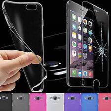 Handyhülle Silikon Schutz Hülle Schale Tasche Transparent +Schutz GLAS FOLIE