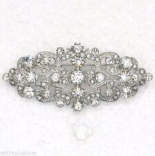Cristal Claro Moda Piedra Austria Boda Con Estrás Diamante Broche de aleación