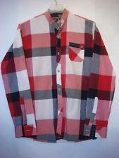 ADOR Men's Sport Dress Shirt Long Sleeve Mandarin Collar Size M