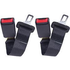 2x Auto Bus Sicherheitsgurt Beckengurt Statik 2-punkt Universal Schwarz