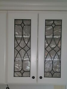 Kitchen Cabinet Art Glass  Stained Glass door Insert window Baroque Style 2 Of